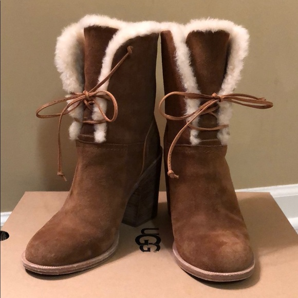 a2c28264b3f UGG Jerene suede chestnut boots